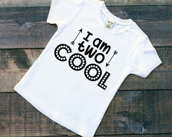 I Am Two Cool - Birthday Shirt - 2nd Birthday Shirt - Two Year Old - 2 Birthday - Cool Kids Shirt - Hipster Clothing - Toddler Shirt