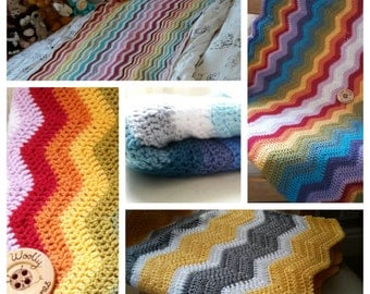 Chevron Throw -- Custom made--