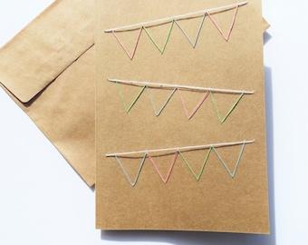 Pastel Bunting Card