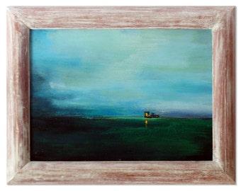 Title: Abend-Wolken-Wasser-Landschaft – the big stream and the navigation