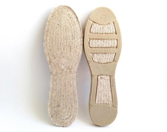 "Wear the authentic Spanish espadrille soles, the Mediterranean and eco-friendly jute rope flats. 39 EU (25 cm / 9.85"")"