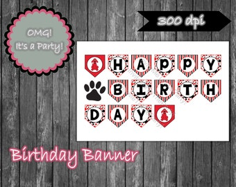 Clifford the Big Red Dog Birthday Banner, Clifford Banner, Clifford Party Printables