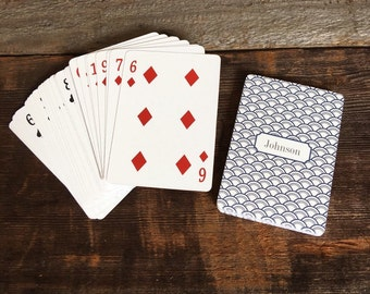 Personalized Playing Cards, Monogrammed Poker Cards, Custom Deck of Cards, Personalized Gift