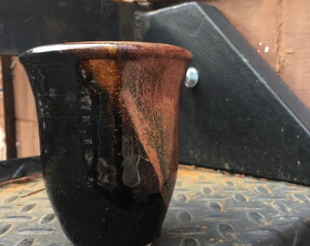 Black and Copper Short Tea Tumbler