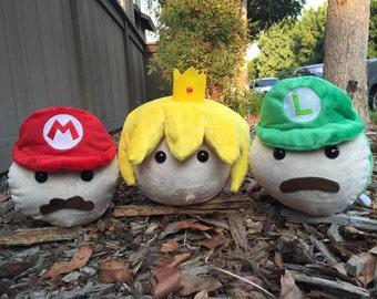 Mario, Luigi, & Princess Peach Plush