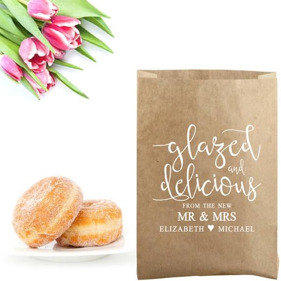 Wedding Favor Donut Bags : ...Wedding Doughnut Bag StampWedding Donut BoxDoughnut Favors