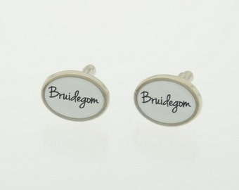 Individual cufflinks for your wedding/marriage/marriage. For the groom on his wedding day