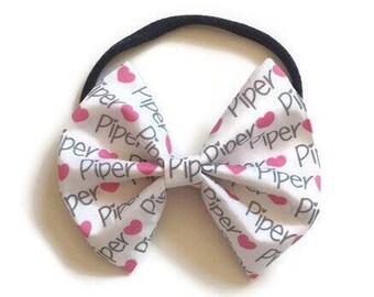 Custom Name Fabric Bow