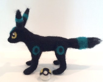 Posable Shiny Umbreon Felted Plushie