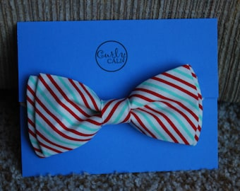 Red and Blue stripped Holiday Bow Tie