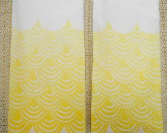 Block Printed Tea Towel, Set of 2