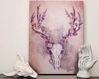 "Woodland Stag - Canvas 12x16"" (A3)"