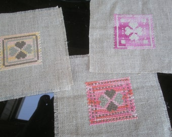 TABLES 4 hearts cross stitch