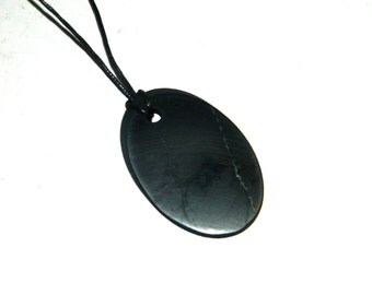 "Shungite Pendant ""Cut"" from Karelia magic aura stone talisman health"