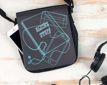 Personalised 'X Ray' Canvas Messenger Bag