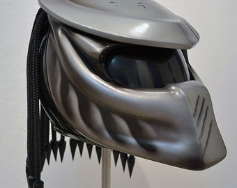 Predator full face motorcycle helmet. Unique exclusive custom made. DOT & ECE certified. Free shipping!