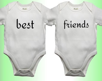 Twins Onesies - Baby Boy - Baby Girl - Baby Clothing - Unique Shower Gift - Baby Shower Gift - Baby Gift Idea-Best Friends Onesies for Twins