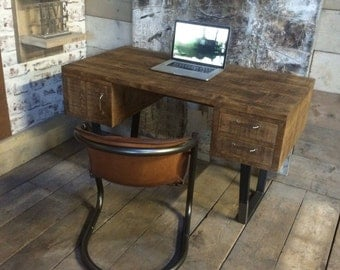 John Lewis Calia Style Vintage Industrial Reclaimed Desk (Made in the UK)