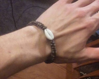 Braided and beaded friendship bracelet
