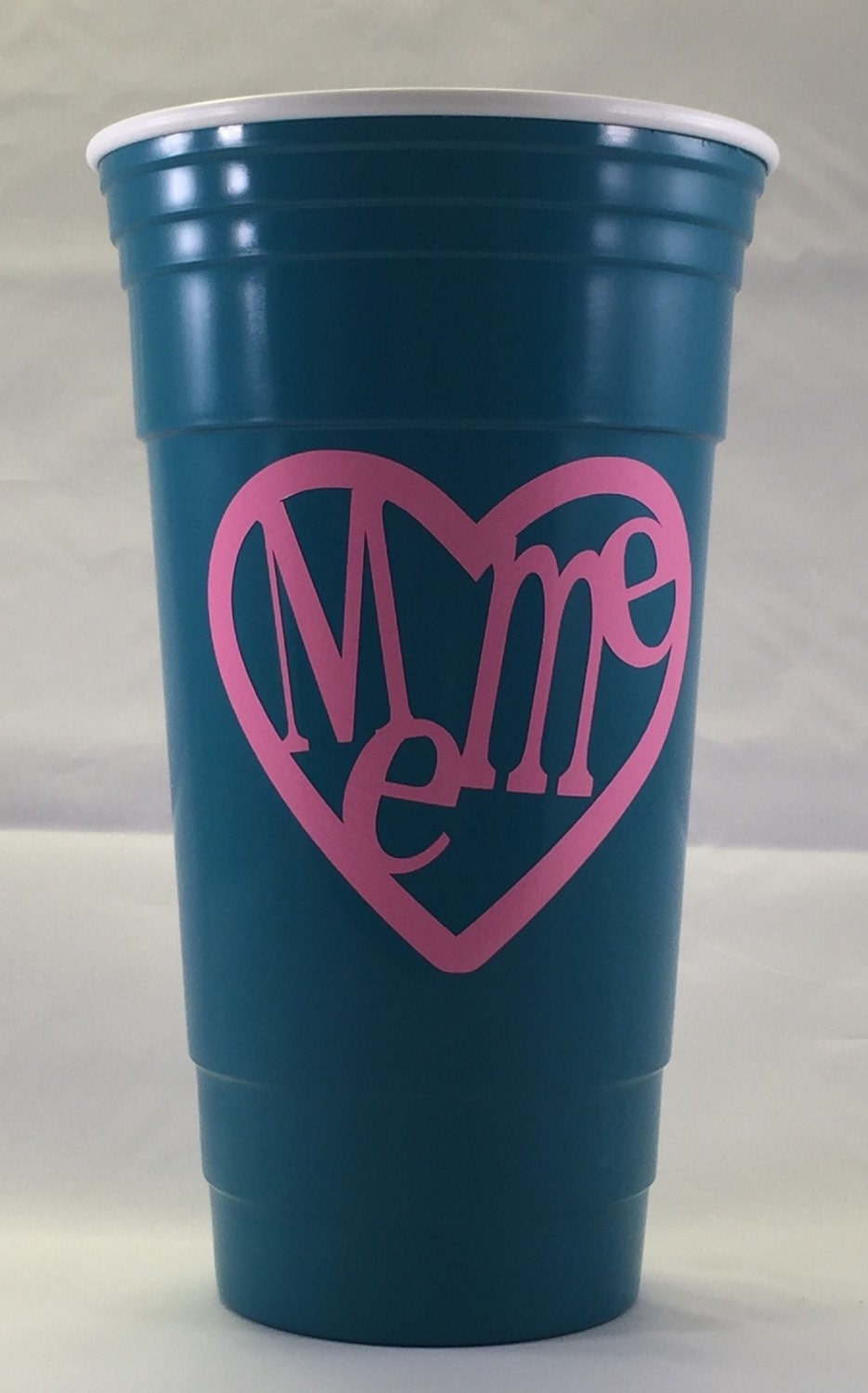 32 ounce meme heart decal party cup from for Vinyl letters for plastic cups
