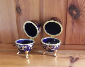 Faberge style eggs x 2