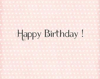 Card Happy Birthday! 13x13cm