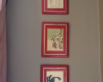 Japanese Art Deco Prints Set Asian Decor Feng Shui