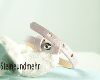 "bracelet leathercord Cuoio 6,3 - 7,8""adjustable LAVENDER #3514"