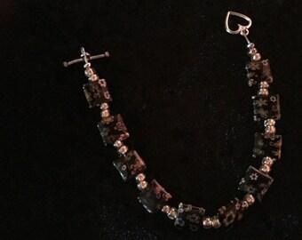 Millifiore square bead bracelet