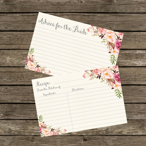 advice cards for bridal shower advice for the bride cards printable