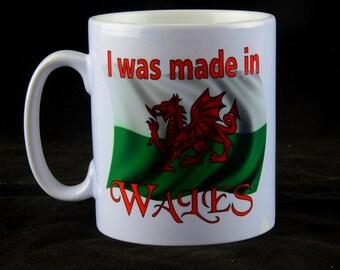 Welsh Dragon Gift, Mug, Welsh Mug, Ceramic Mug, Expats Mug, Coffee Mug,Welsh Flag. I was made in Wales mug,Welsh Gift Birthday or Christmas
