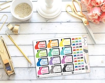 Road Trip Stickers || 48 Planner Stickers