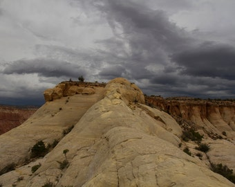 Near Ghost Ranch, Abiquiu, NM-Storm Approaching Near Orphan Mesa - 0433 c