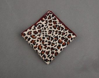 Cheetah Print Pocket Square
