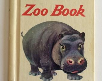 1952 Zoo Book Rand McNally Children's Book