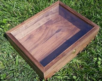 wood box with lid etsy. Black Bedroom Furniture Sets. Home Design Ideas