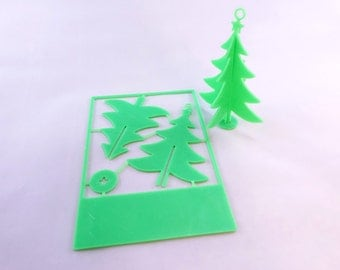 3D Printed Christmas Card Ornaments - Christmas Tree