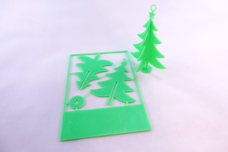 3d printed christmas card ornaments christmas tree