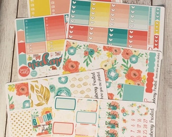 Bloom---- Weekly Planner Kit ---- {Includes 210+ Stickers}