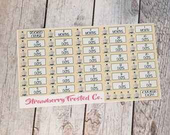 Cruise Countdown Planner Stickers-