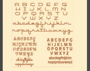 Super Tiny Font, Mini Font,  3 different styles, PES, DST, and BX format only.  Capital Letters are less than half an inch tall. Small font.