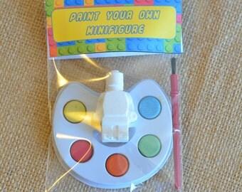 Lego Minifigure, Children's Party Bag Favour, Paint Your Own Kit, Loot Bag Filler, Party Bag Filler