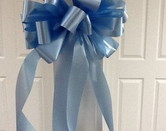Baby boy mailbox bow