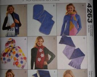 McCalls Fashion Accessories Fleece Scarves  #4263