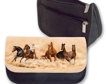Herd of horses Pencil case / Make up bag