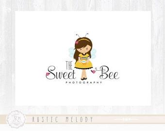 Abeja Logo Diseño niños logotipo diseño abejita Logo Logo cuidado chica insignia Boutique insignia de los cabritos Logo marca de agua fotografía Logo