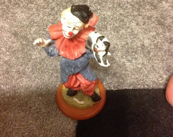 Clown with Dog