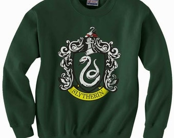 Slyth #1 Crest printed on Forest Green color Crew neck Sweatshirt