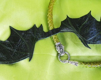 Dragon necklace leather, Dragon leather necklace, leather Dragon necklace, leather Dragon necklace handmade, Game of Thrones necklace dragon