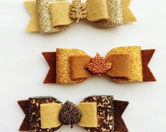 Fall Bow Headband - Leaf Bow - Photo Prop